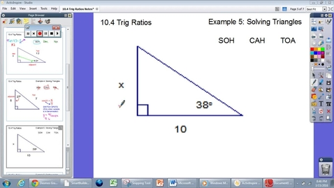 Thumbnail for entry 10.4 Trig Ratios #5