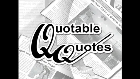 Thumbnail for entry Quotable Quotes - Snow Days