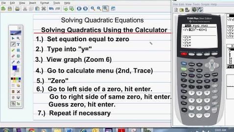 Thumbnail for entry Solving Quadratic Equations