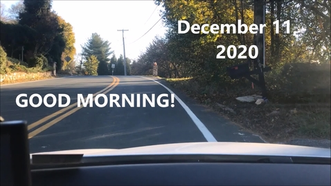 Thumbnail for entry WHMS Morning News   December 11, 2020
