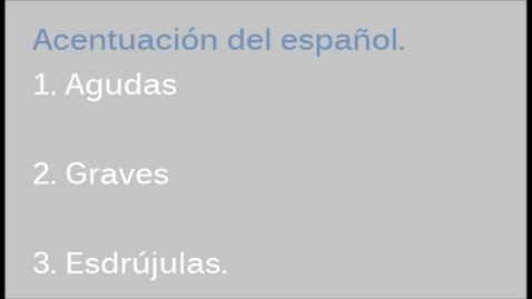 Thumbnail for entry CENEVAL Ortografía. Agudas, graves y esdrújulas.(LLEVEN RELOJ A SU EXAMEN)