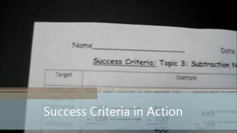 Thumbnail for entry Success Criteria in Motion