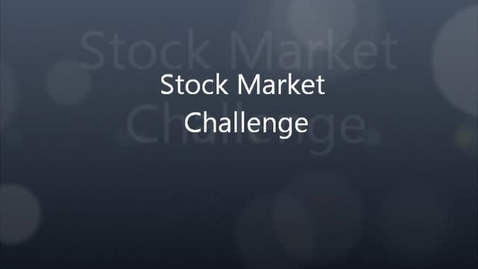 Thumbnail for entry Stock market challenge