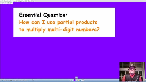 """Thumbnail for entry Multiplication by using """"Partial Products"""""""