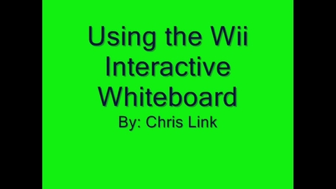 Thumbnail for entry Wii Interactive Whiteboard Set-up
