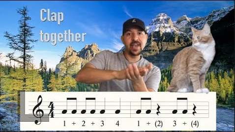 Thumbnail for entry Rhythm Clapping with Mr. Gordon - Funny Cats Edition - learn how to read music - clap along !!!