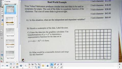 Thumbnail for entry Solving quadratics stragegies lesson factoring    12-2-14
