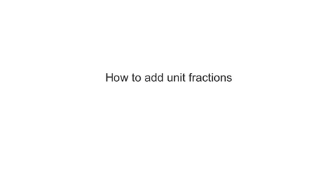 Thumbnail for entry Adding Unit Fractions