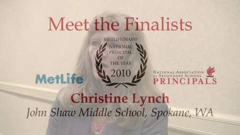 Thumbnail for entry 2010 Principal of the Year Finalist - Christine Lynch