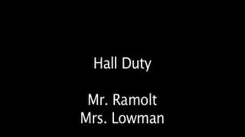 Thumbnail for entry 2011-2012 Ramolt Hall Duty
