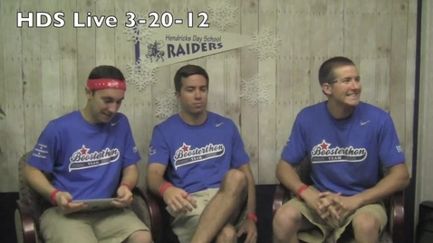 Thumbnail for entry HDS Live 3-20-12 Boosterthon part 3