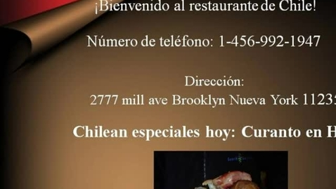 Thumbnail for entry Restaurante de Chile