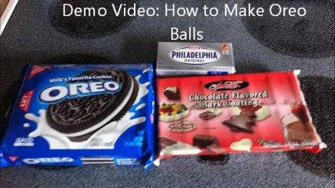 Thumbnail for entry Demonstration Video - How to Make Oreo Balls