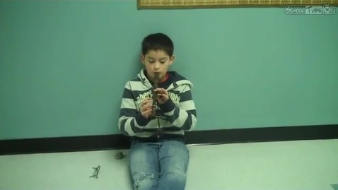 Thumbnail for entry Kevin Bustament, recorder solo, Dabbs Elementary, February 2011, Mrs. Hendrix music class