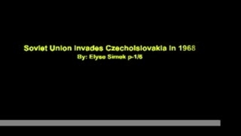 Thumbnail for entry Communisim in Czechoslovakia