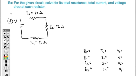 Thumbnail for entry How to Solve a Series Circuit (Easy)