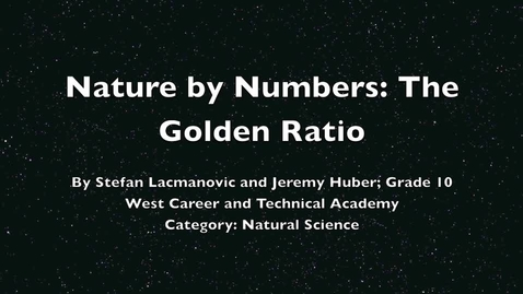 Thumbnail for entry Nature by Numbers: The Golden Ratio