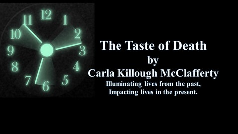 Thumbnail for entry The Taste Of Death by Carla Killough McClafferty