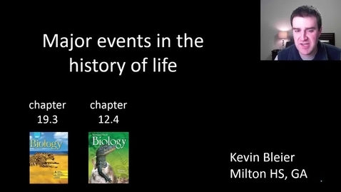 Thumbnail for entry Major events in the history of life