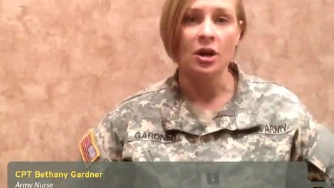 Thumbnail for entry HOSA 2013 Convention: Meet CPT Bethany Gardner