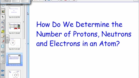Thumbnail for entry Atoms: Protons, Neutrons & Electrons