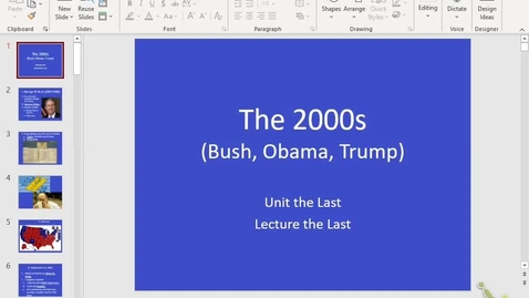 Thumbnail for entry Honors US: Lecture 13.3 - The 2000s, part 1