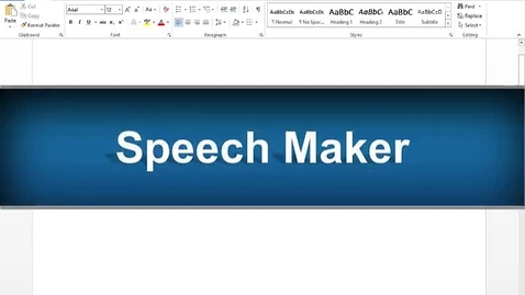 Thumbnail for entry Speech Maker Feature - Read&Write Gold Version 11