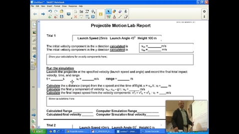 Thumbnail for entry Projectile Motion Lab