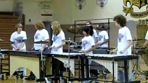 Thumbnail for entry Farmington High School Band Percussionists