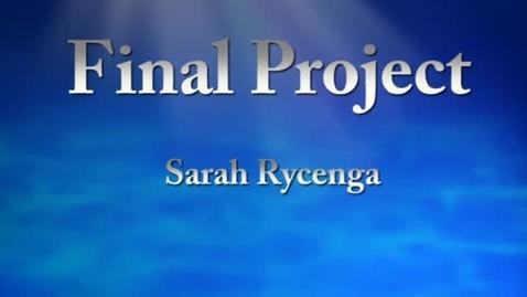 Thumbnail for entry Sarah's Portfolio WOBN 2013