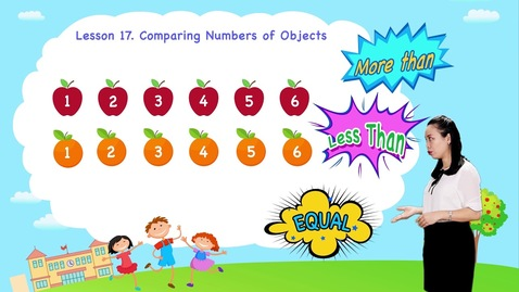 Thumbnail for entry Math For Kids | Lesson 17. Comparing Numbers of Objects | Kindergarten