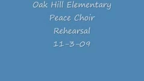 "Thumbnail for entry Peace Choir ""Shout"""