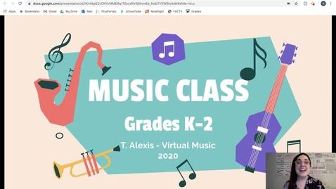 Thumbnail for entry Lesson #5 - Grades K-2