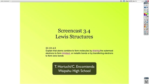 Thumbnail for entry Screencast 3.4 Lewis Structures