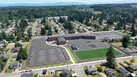 Thumbnail for entry Pioneer Elementary Drone Footage Site Progress July 2021