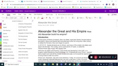 Thumbnail for entry Grade 7 - Social Studies - Alexander the Great