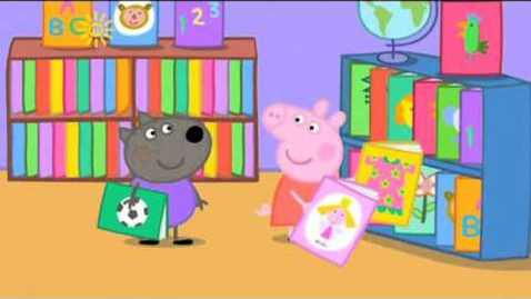 Thumbnail for entry Peppa Pig Series 3 Episode 04   The Library