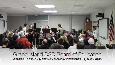 Thumbnail for entry GICSD Board of Education 12-11-2017 Meeting
