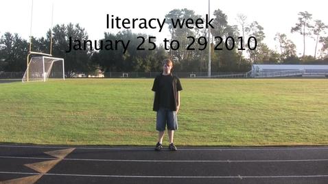 Thumbnail for entry Literacy week PSA
