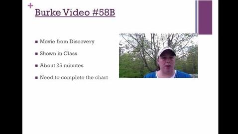 Thumbnail for entry Burke Video #58B Movie
