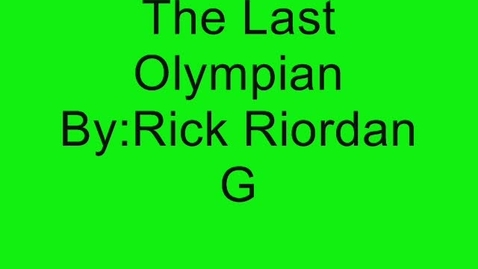 Thumbnail for entry The Last Olympian Book Trailer