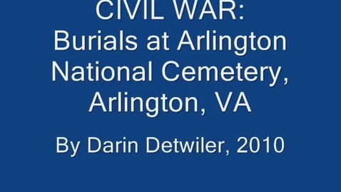 Thumbnail for entry Civil War Burials