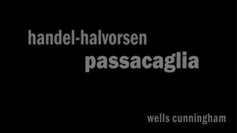 Thumbnail for entry The Impossible Duet: Handel-Halvorsen Passacaglia for Cello and Violin