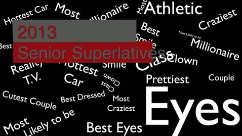 Thumbnail for entry Senior Superlatives