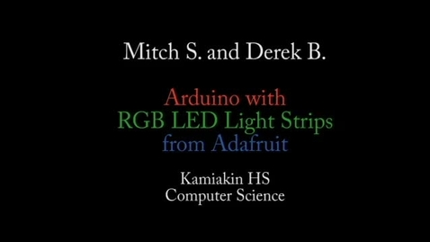 Thumbnail for entry Arduino and RGB LED strip