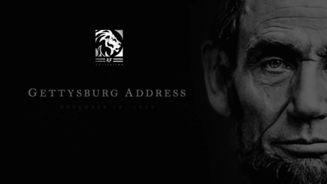 Thumbnail for entry Greatest Speech in American History (Abe Lincoln's Gettysburg Address)