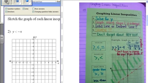 Thumbnail for entry Graphing linear inequalities example #2