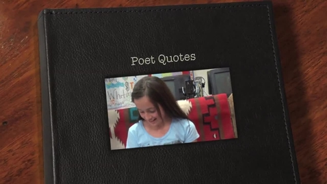 Thumbnail for entry College Lane Elementary Journalism Class Presents Poet Quotes
