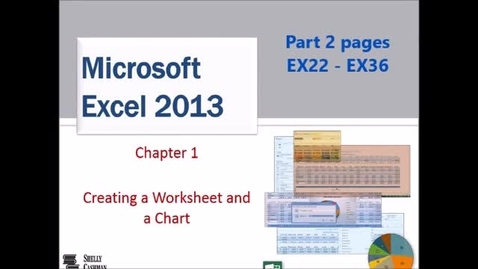 Thumbnail for entry Excel 1 Creating a Worksheet and a Chart - Part 2 of 3