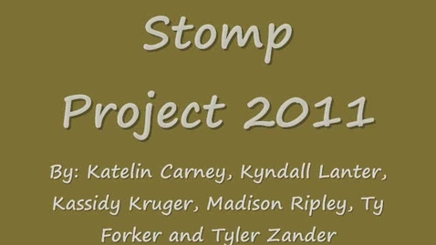 Thumbnail for entry Stomp Project Brownies:)